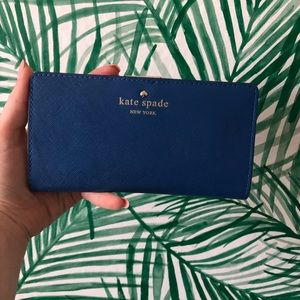 Kate Spade Royal Blue Leather Wallet